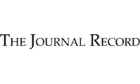 The Journal Record of Oklahoma City logo black and white